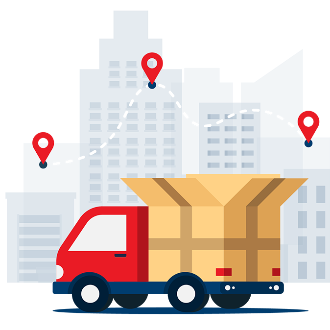 Point2Point Global - About Us Shipping Truck Illustration